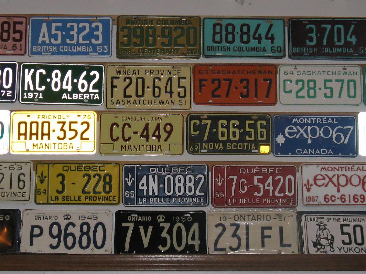 canadian antique & collectible license plates